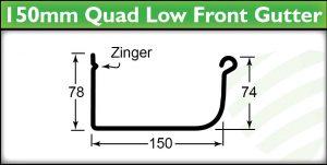Guttering Brisbane - 150mm Quad Gutter Profile - Strongguard