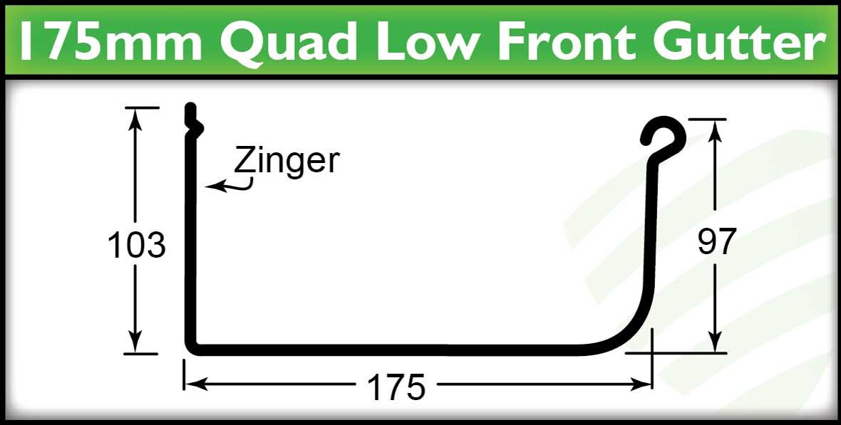 Roof Guttering Brisbane - 175mm Quad Gutter Profile - Strongguard
