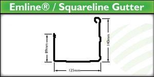 Brisbane Guttering - Emline Squareline Gutter - Strongguard
