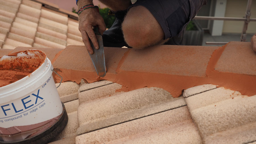 Brisbane north roof tiles repair or restore capping