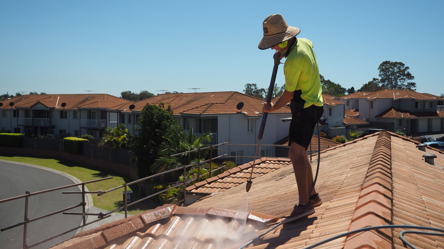 Brisbane Southside roof restoration clean roof surface thoroughly