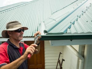 Sunshine Coast gutter replacement fit new gutters from Bluescope Steel