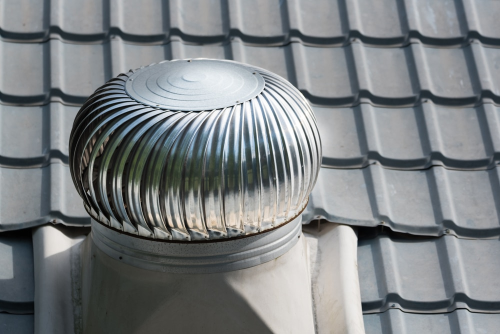 whirlybird roof ventilation on roof