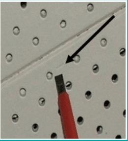 Screwdriver Dents Surface